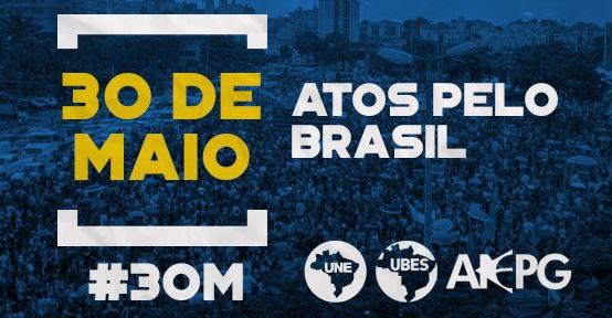 30 de maio nas ruas de novo defendendo a educação