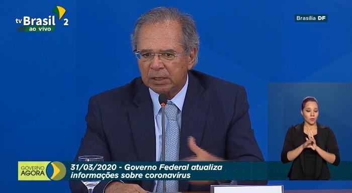 """""""Chegamos a 2,6% do PIB nesse orçamento de guerra"""", diz Guedes"""