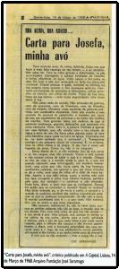 Carta a Josefa, minha avó