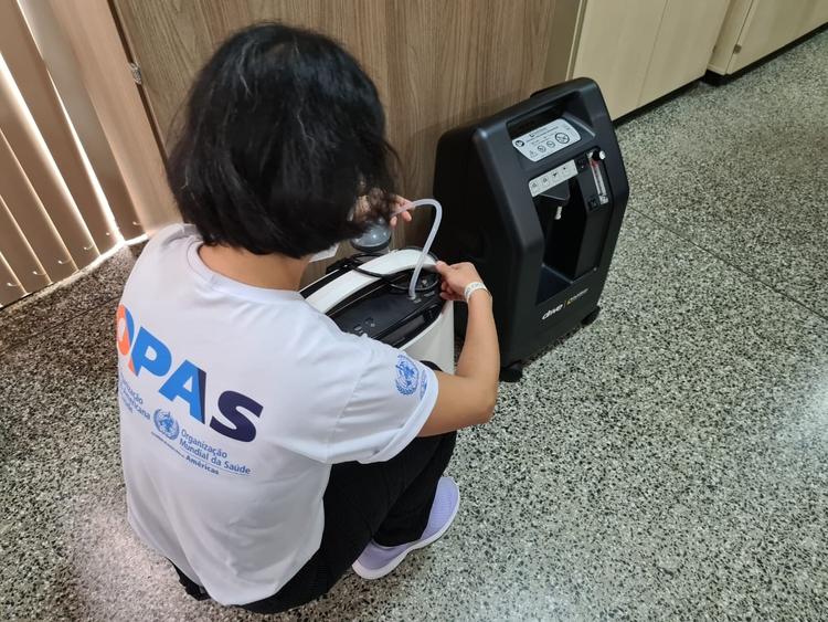 Covid-19: OPAS orienta Amazonas sobre uso de concentradores de ar