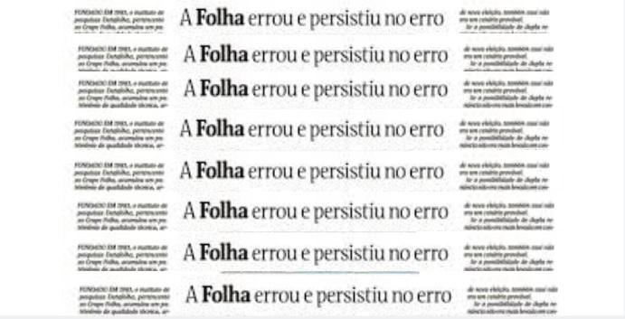 'Folha' volta às falsas comparações enquanto o país entra em colapso, por Dilma Rousseff