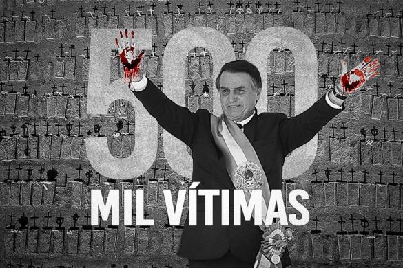 Com Bolsonaro no poder, Brasil chega a 500 mil mortes por Covid-19