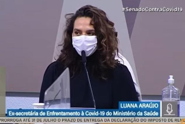 """Na CPI, Luana Araújo mostra credenciais e vontade de frear a """"hecatombe"""" no Brasil"""