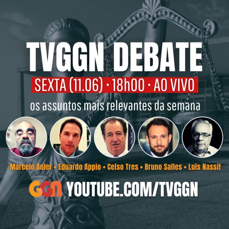 Celso Tres, Luis Nassif, Eduardo Appio, Bruno Salles e Marcelo Auler na TVGGN, hoje, às 18h